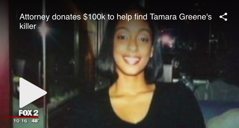 FOX2DETROIT | Attorney donates $100k to help find Tamara Greene's